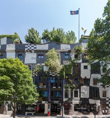 Fassade Hundertwasserhaus (c)Foto: Eva Kelety