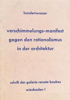 Titelblatt Verschimmelungsmanifest_Hundertwasser