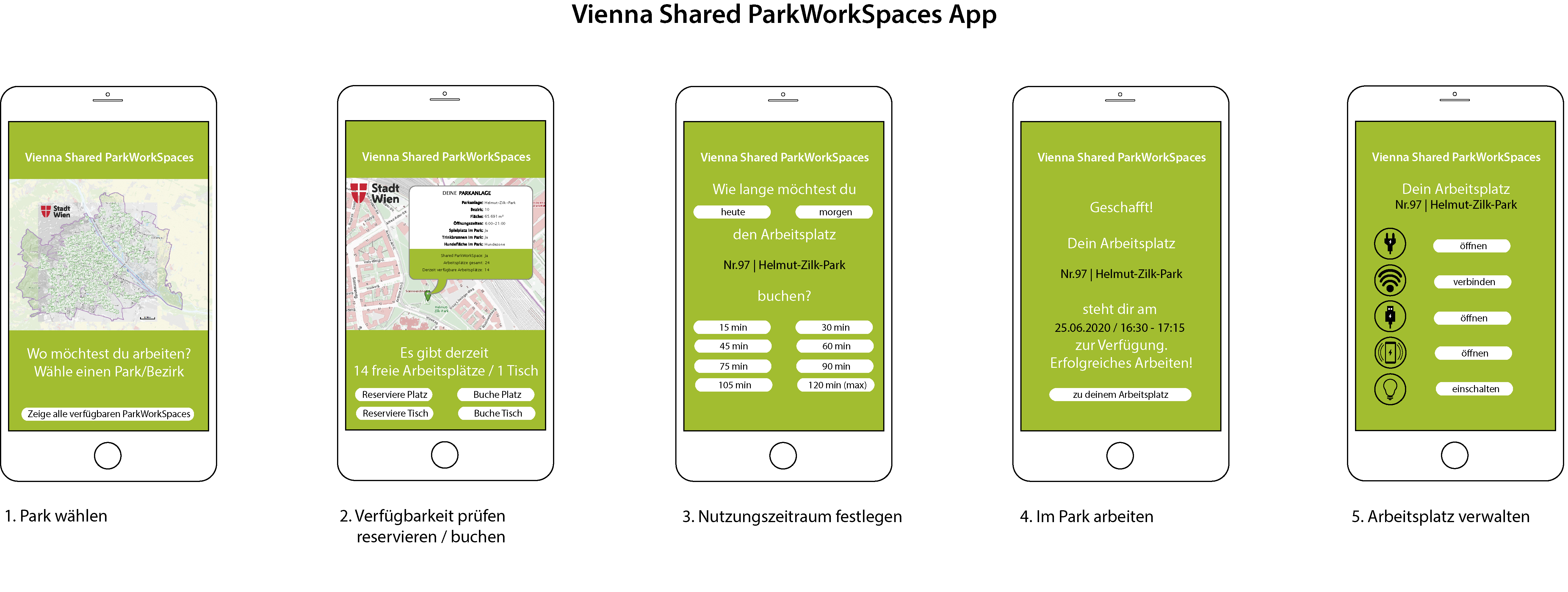 Vienna Shared ParkWorkingSpace App
